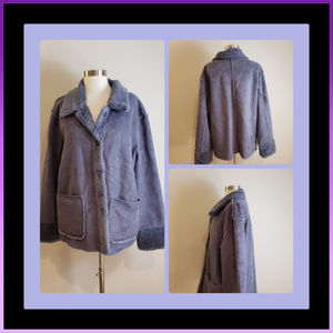 🧣BRANDON THOMAS  Grayish/Purple Jacket SMALL
